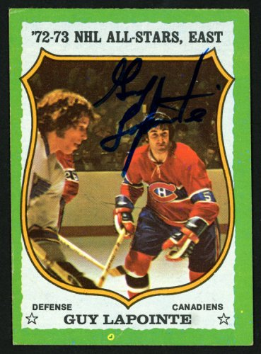 Guy Lapointe Autographed Signed Memorabilia 1973 -74 Topps Card #170 Montreal Canadiens 149974 - Certified Authentic