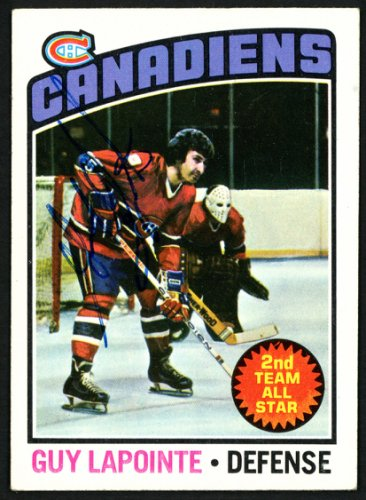 Guy Lapointe Autographed Signed Memorabilia 1976 -77 Topps Card #223 Montreal Canadiens 150193 - Certified Authentic