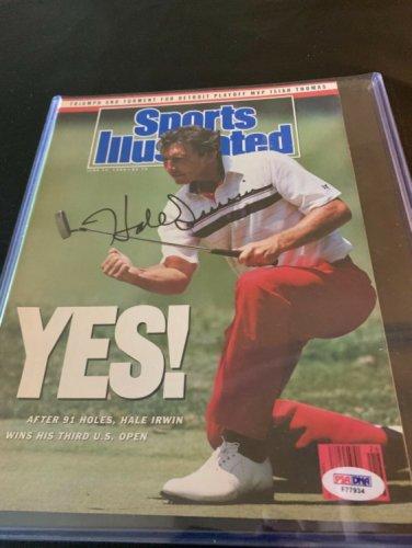 Hale Irwin Autographed Signed Magazine 6/26/90 3 Time U.S. Open Golf Champ PSA/DNA