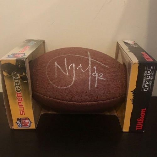 Haloti Ngata Autographed Signed Autographed NFL Wilson Football PSA DNA COA Ravens