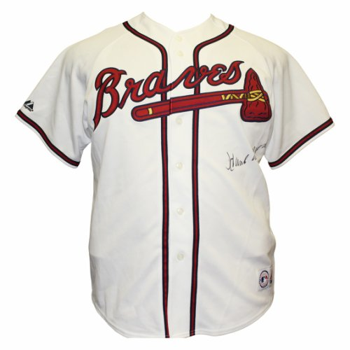 bccd4273c Hank Aaron Autographed Signed Atlanta Braves Majestic MLB Jersey - PSA DNA  Authentication