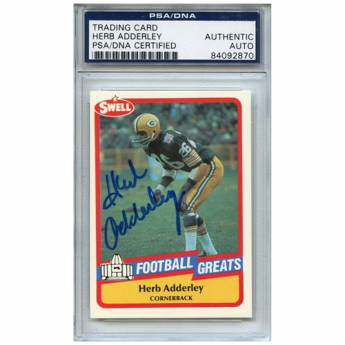 Herb Adderley Autographed Signed Football Trading Card Green Bay Packers  PSA DNA  84092870 69e77bde2