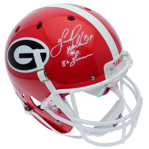 72cb071cb Herschel Walker Autographed Signed Georgia Bulldogs Schutt Full Size  Replica Helmet - 82 Heisman Inscription -