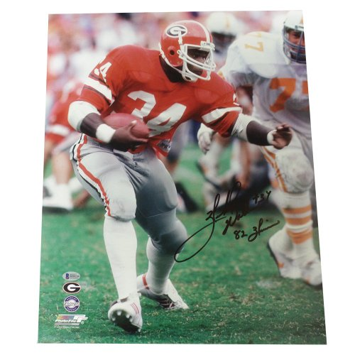 4a08856f8 Herschel Walker Georgia Bulldogs Autographed Signed 16x20 Photo Cut with 82  Heisman Inscription - Beckett Certification