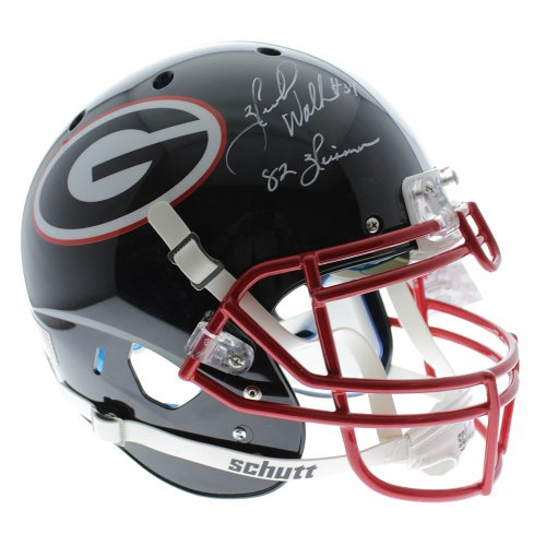 be3b2d0db Herschel Walker Georgia Bulldogs Autographed Signed Schutt Full Size  Authentic Black Helmet with 82 Heisman Inscription