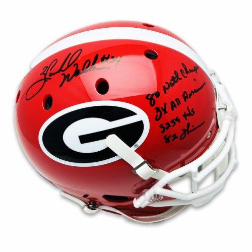 Herschel Walker Georgia Bulldogs Autographed Signed Schutt Full Size Authentic Helmet with Stats Inscription w/ Black Marker - Beckett Certification
