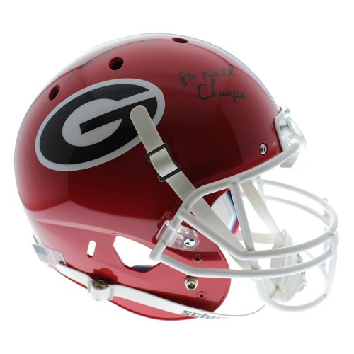 c3c6707ae Herschel Walker Georgia Bulldogs Autographed Signed Schutt Full Size  Replica Helmet with 80 Natl Champs Inscription