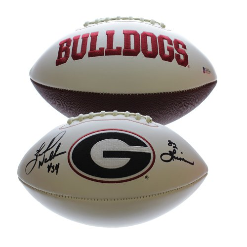 74dcf83e6 Herschel Walker Georgia Bulldogs Autographed Signed White Panel Football  with 82 Heisman Inscription - Beckett Certification