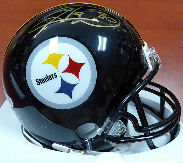 6e639e0abfc Hines Ward Autographed Signed Pittsburgh Steelers Black Mini Helmet -  Beckett Certified