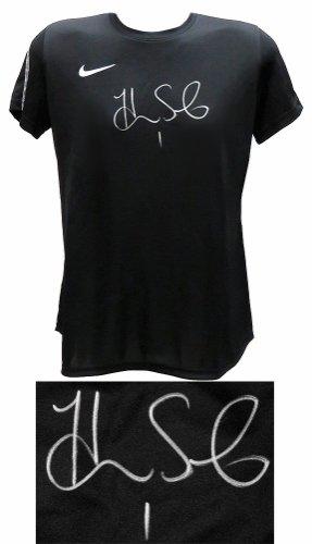 Hope Solo Autographed Signed Nike Black Dri-Fit Soccer Jersey