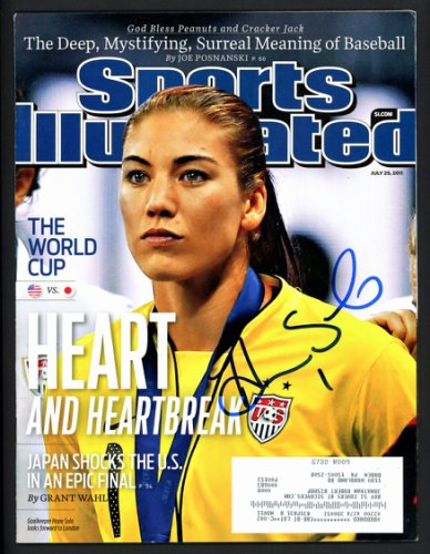 Hope Solo Autographed Signed Sports Illustrated Magazine Beckett BAS #S76782