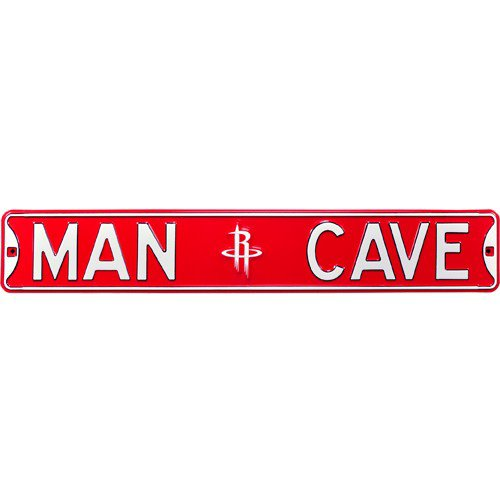 Houston Rockets MAN CAVE Authentic Street Sign