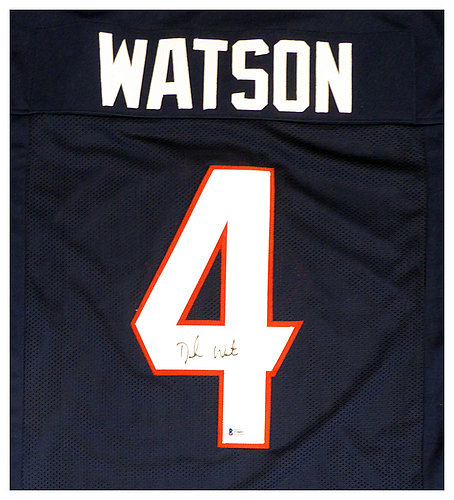 the latest 50892 a2ee4 Deshaun Watson Autographed Signed Houston Texans Blue Jersey ...