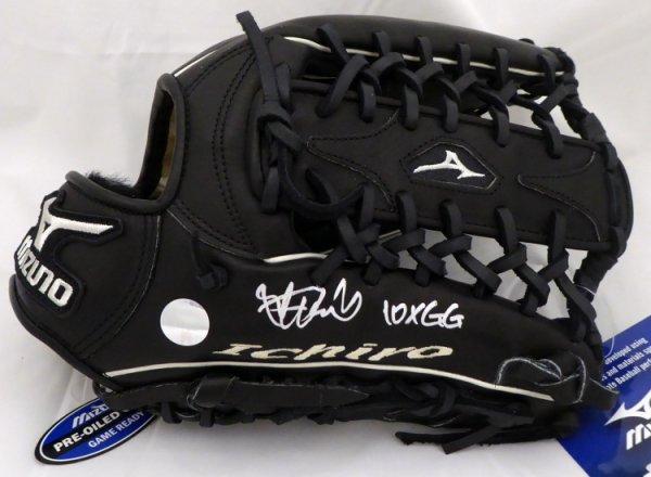 Ichiro Suzuki Autographed Signed Mizuno Game Model Fielding Glove 10X GG Seattle Mariners IS Holo Stock #157350