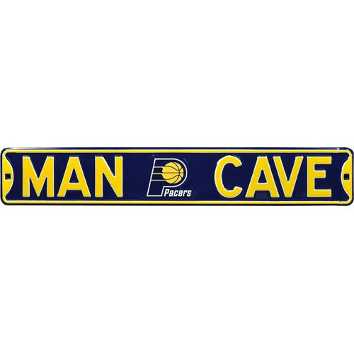 Indiana Pacers MAN CAVE Authentic Street Sign