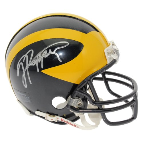 d367da29 Jabrill Peppers Autographed Signed Michigan Wolverines Mini Helmet - Silver  Sharpie - JSA Authentic