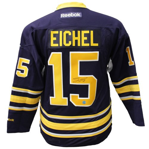 86c4ed8b7 Jack Eichel Buffalo Sabres Autographed Signed Blue Reebok Premeir Hockey  Jersey - Certified Authentic
