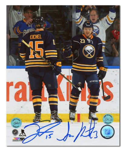 new styles 18216 003e2 Jack Eichel Buffalo Sabres Autographed Signed First NHL Game ...