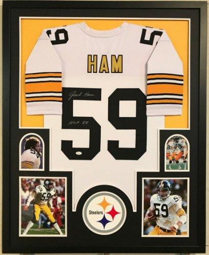 c7132d5be91 Jack Ham Autographed Signed Custom Framed Pittsburgh Steelers Jersey 'HOF  88' - JSA Authentic