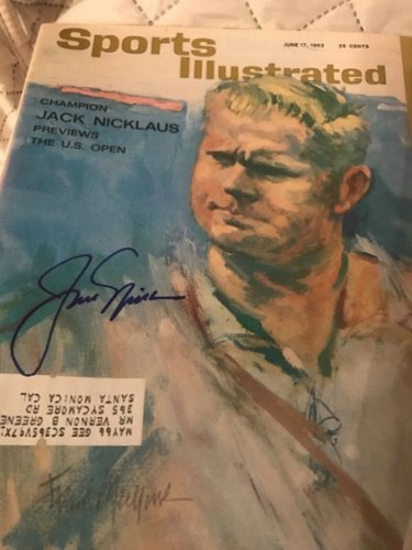 Jack Nicklaus Autographed Signed 1963 Sports Illustrated PSA Certified Signed