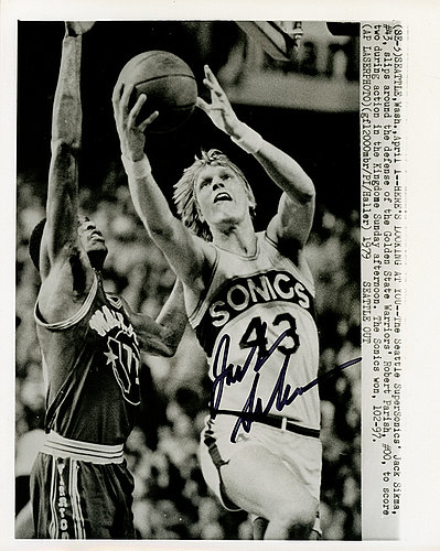 c24087cd Jack Sikma Autographed Signed 8x10 Wire Photo Seattle Supersonics MCS Holo  #70240