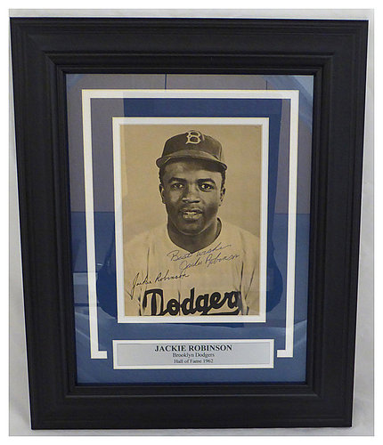 Jackie Robinson Autographed Memorabilia Signed Photo Jersey