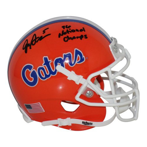 Jacquez Green Florida Gators Autographed Signed Schutt Mini Helmet w/ 96 National Champs Inscription - Certified Authentic