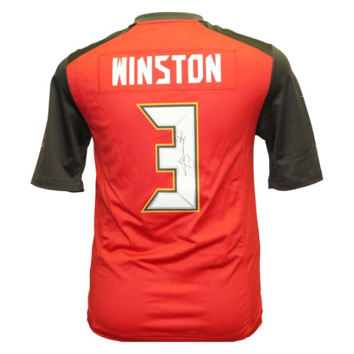 fc152622218 Jameis Winston Autographed Signed Tampa Bay Buccaneers Nike On Field Jersey  - Size L - Certified Authentic 146