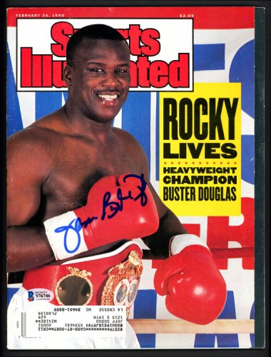 James Buster Douglas Autographed Signed Sports Illustrated Magazine Beckett BAS #S76746