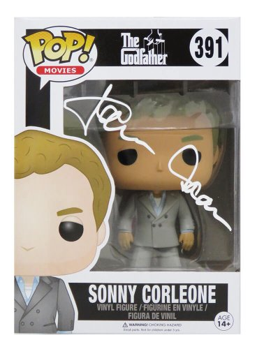 James Caan Autographed Signed The Godfather Sonny Corleone Funko Pop Vinyl Doll #391