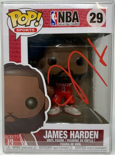 James Harden Autographed Signed Houston Rockets Funko Pop - Autograhped Beckett Beckett Witness