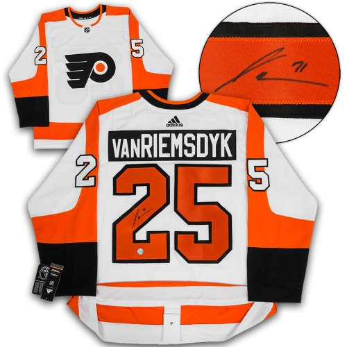 James Van Riemsdyk Philadelphia Flyers Autographed Signed White Adidas Authentic Jersey