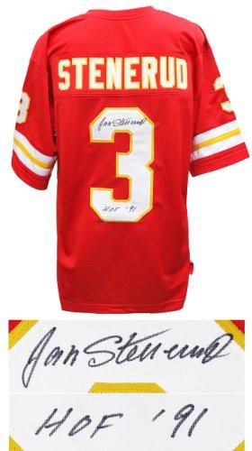 Jan Stenerud Autographed Signed Red Throwback Custom Football Jersey w/HOF'91