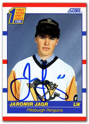 1b28a8b1d26 Jaromir Jagr Autographed Signed 1990-91 Score Rookie Hockey Card -  Certified Authentic