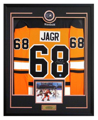 Jaromir Jagr Philadelphia Flyers Autographed Signed Outdoor Style 36x44 Framed Hockey Jersey
