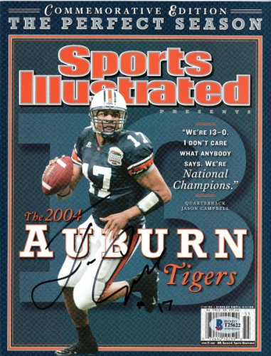 Jason Campbell Autographed Signed Auburn Tigers Sports Illustrated Commemorative Edition Beckett Authenticated