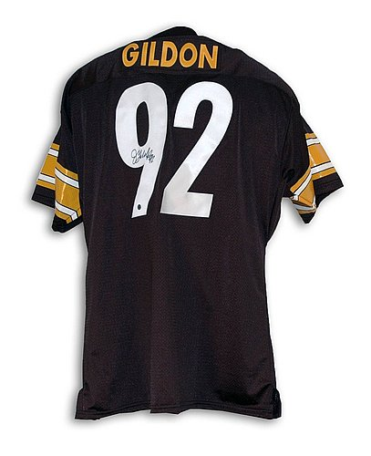 531014ce838 Jason Gildon Pittsburgh Steelers Autographed Signed Black Throwback Jersey  - Certified Authentic