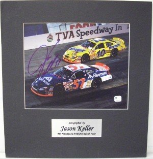 Jason Keller Autographed Signed 13x14 Photo Nascar BuschSeries Custom Matted - Certified Authentic