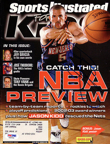 84d3d443082 Jason Kidd Autographed Signed Sports Illustrated Magazine New Jersey Nets -  PSA/DNA Certified