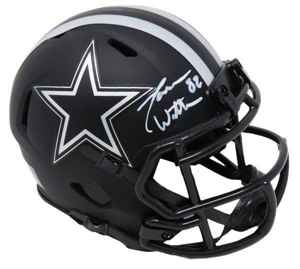 Jason Witten Autographed Signed Dallas Cowboys Eclipse Black Matte Riddell Speed Mini Helmet