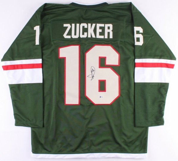 Jason Zucker Autographed Memorabilia Signed Photo Jersey