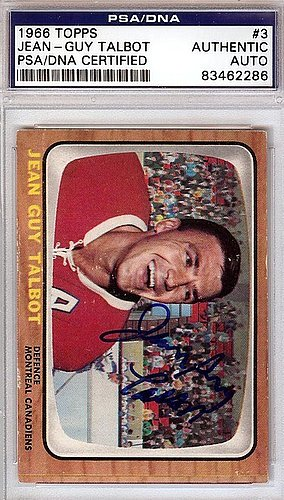 Jean-Guy Talbot Autographed Signed 1966 Topps Card #3 - PSA/DNA Certified