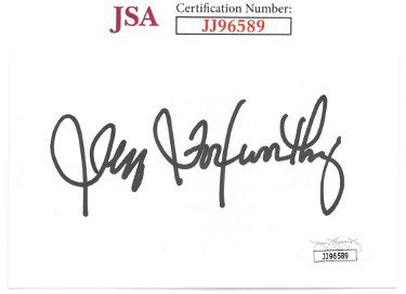Jeff Foxworthy Autographed Signed 3x5 Index Card- JSA #JJ96589 (Comedian/Blue Collar Comedy)