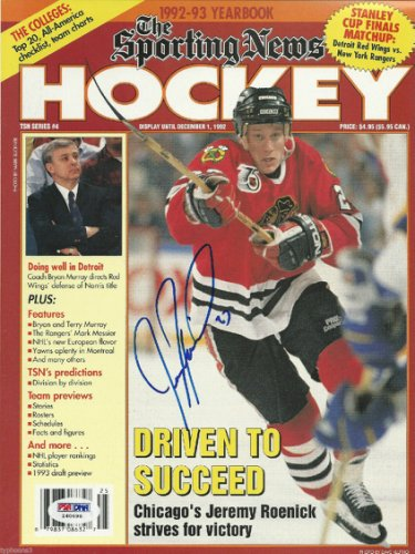 Jeremy Roenick Autographed Signed 92-93 Sporting News Magazine With PSA/DNA COA (No Label)