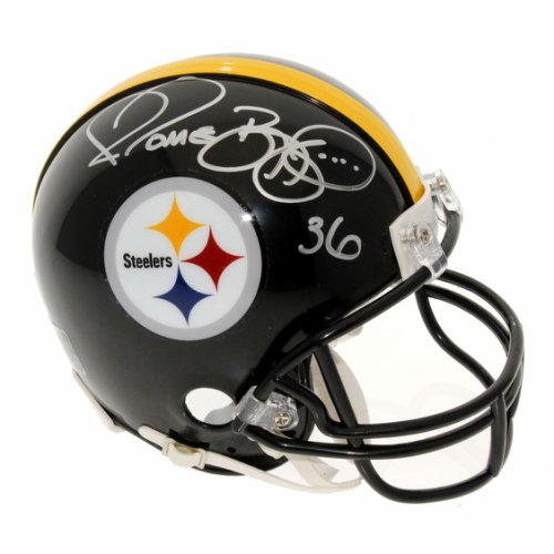 4815bdf08 Jerome Bettis Autographed Signed Pittsburgh Steelers Mini Helmet - PSA/DNA  Certified Authentic