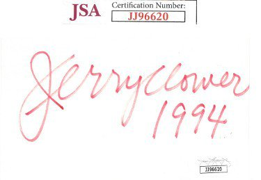 Jerry Clower Autographed Signed 3x5 Index Card 1994- JSA #JJ96620 (Comedian)