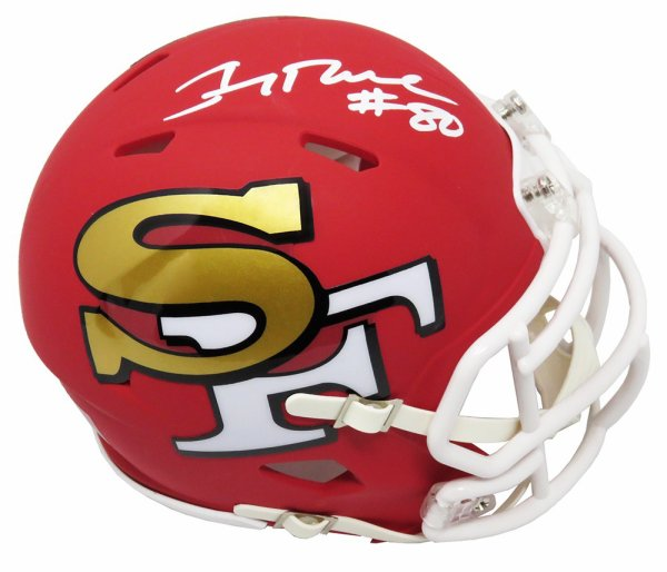 Jerry Rice Autographed Signed San Francisco 49ers AMP Alternate Series Riddell Speed Mini Helmet