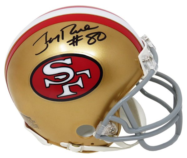 Jerry Rice Autographed Signed San Francisco 49ers Throwback Riddell Mini Helmet