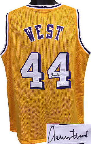 brand new 2367b 5bdf4 Jerry West Autographed Memorabilia | Signed Photo, Jersey ...
