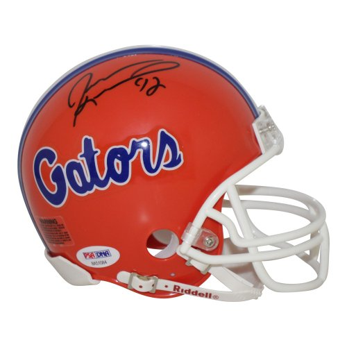 Jevon Kearse Florida Gators Authographed Riddell Mini Helmet - PSA/DNA Authentic